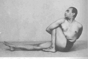 BKS Iyengar in a deep twist